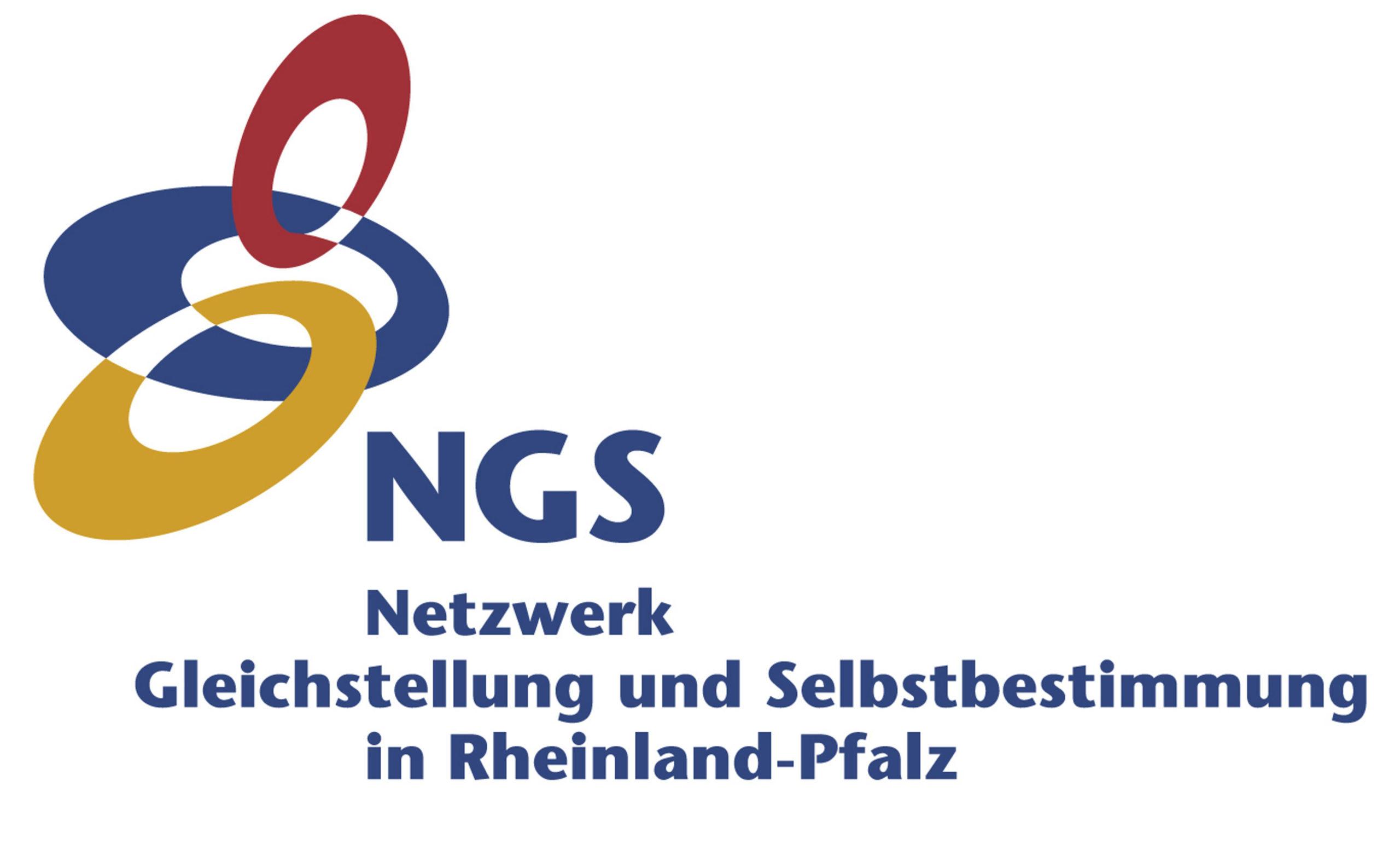 Logo des Netzwerkes Gleichstellung und Selbstbestimmung Rheinland-Pfalz